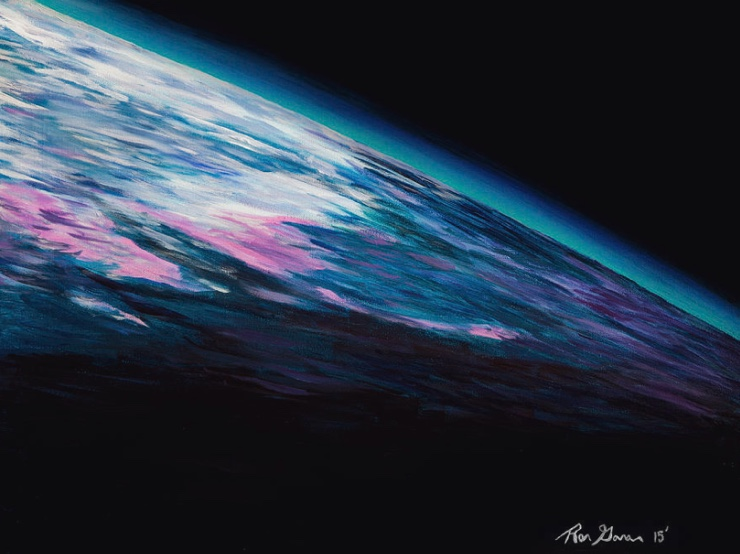 original artwork of space by astronaut Ron Garan