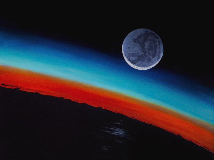 space and planet paintings by artist ron garan