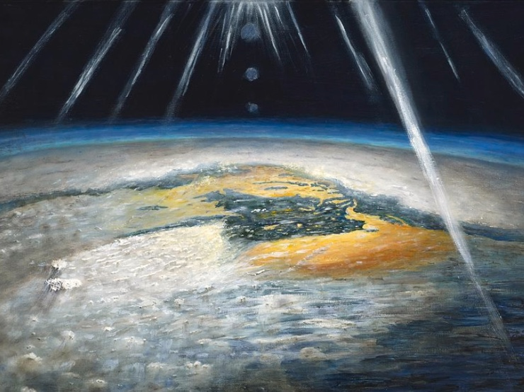 Painting of planet by astronaut Ron Garan