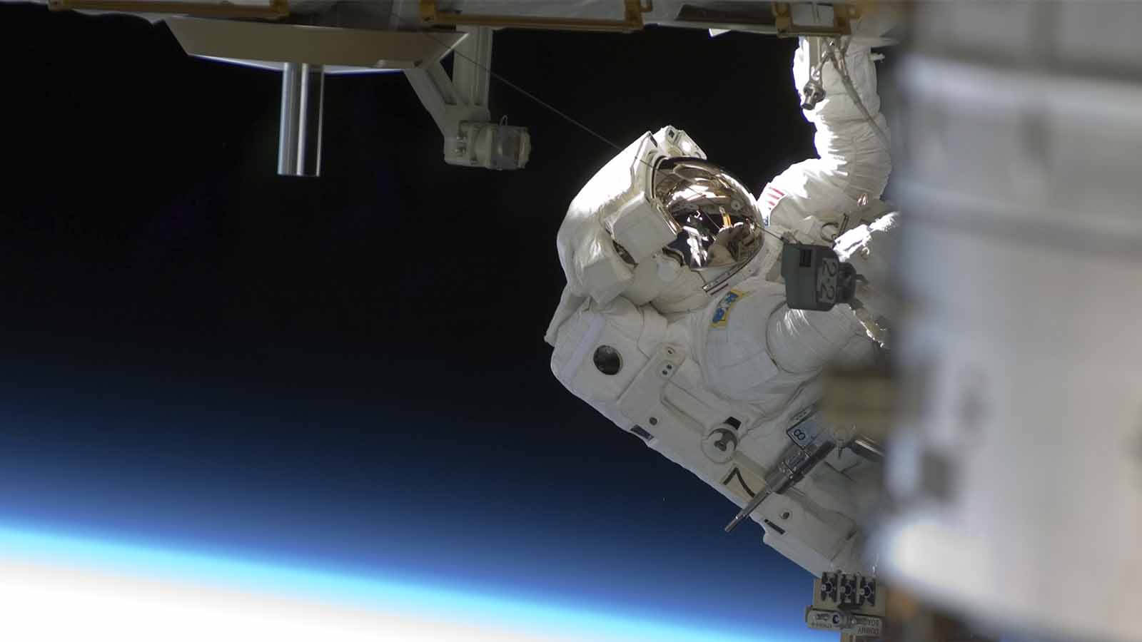 An Astronaut working in space