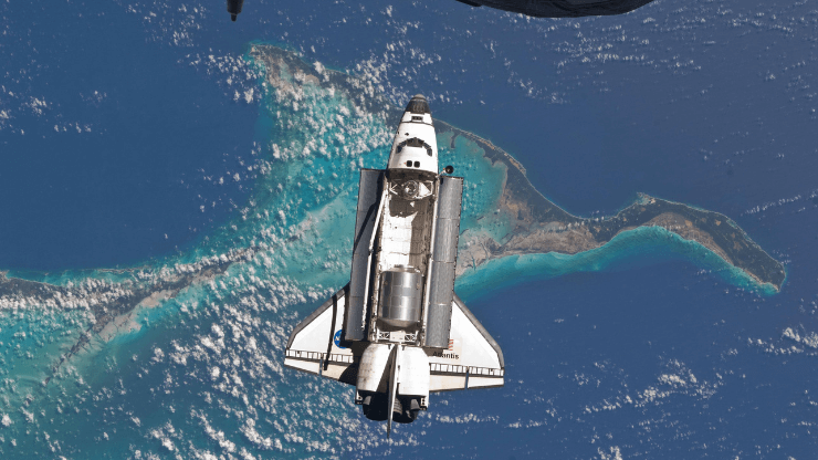 aerial image of space ship