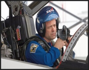 Ron in the cockpit of NASA T-38 Supersonic Jet Trainer